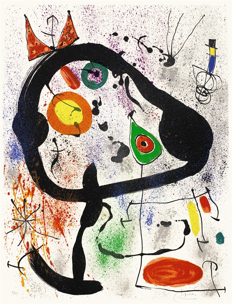 """""""The Seers III"""" (1970, M.663). From Joan Miró's """"Broder Collection."""""""