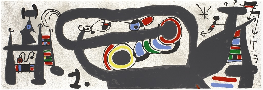 """""""Le Lezard aux Plumes d'or II"""" (1971, M.828). From Joan Miró's """"Broder Collection."""""""