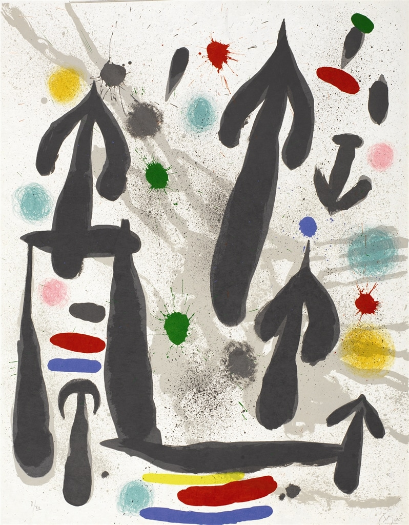 """""""Les Perseides"""" (1970, M.659). From Joan Miró's """"Broder Collection."""""""