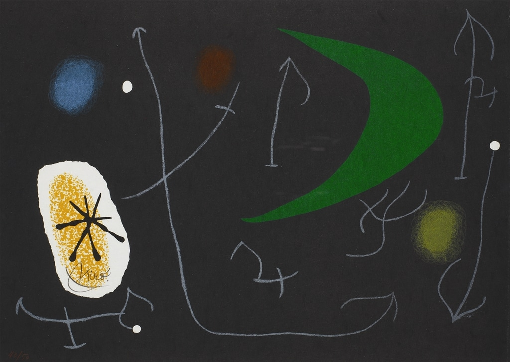 """""""Le Lezard aux Plumes d'Or II"""" (1971, M.821). From Joan Miró's """"Broder Collection."""""""