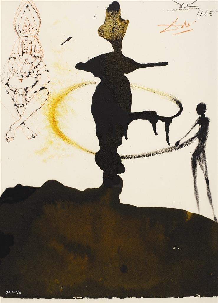 """Filiae Herodiadis Saltatio"" (The Dance of Herodias' Daughter, 1964), Salvador Dalí"