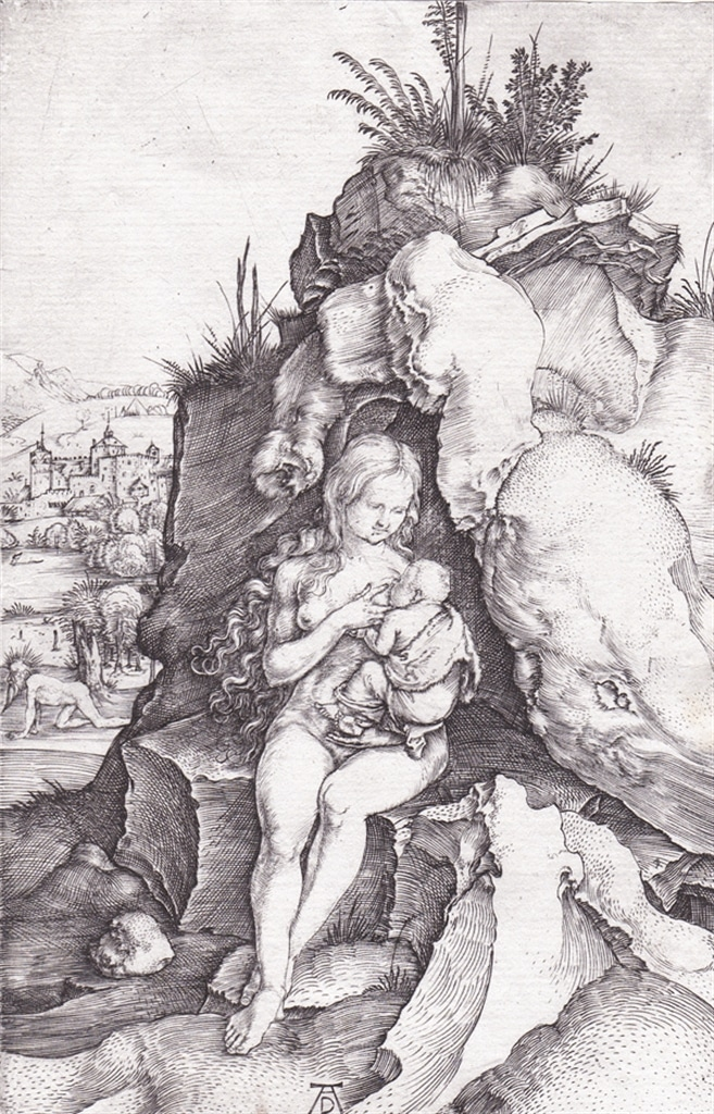"""""""The Penance of St. John Chrysostom"""" (c. 1497), an example of the kind of engraving by Albrecht Dürer that Morris Shapiro shared with the SUNY's Davis Scholars."""