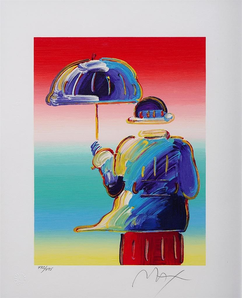 """""""Umbrella Man"""" (2016), Peter Max"""