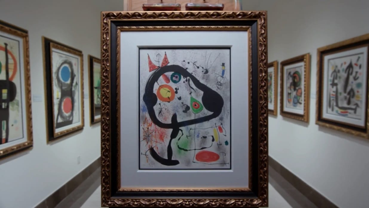 """""""The Seers III"""" (1970, M.663). From Joan Miró's Broder Collection."""