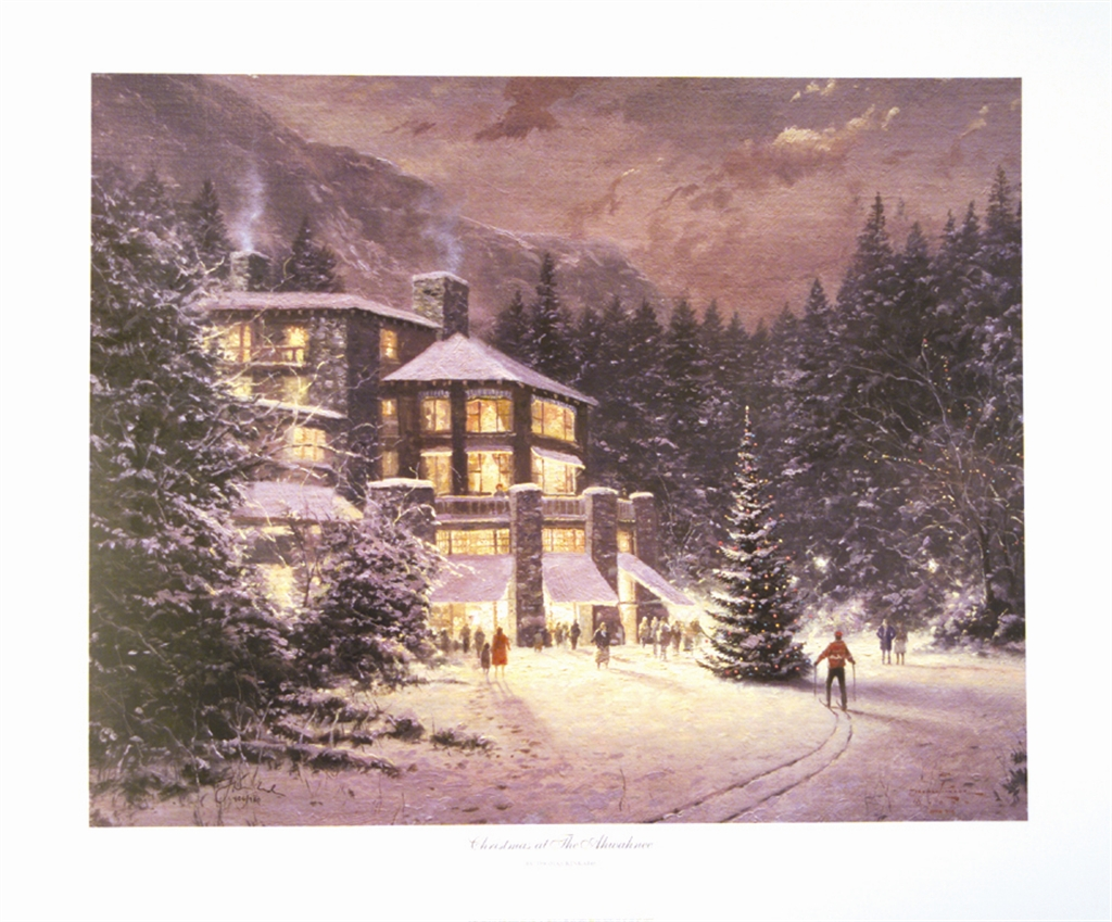 """Christmas at the Ahwahnee,"" Thomas Kinkade"