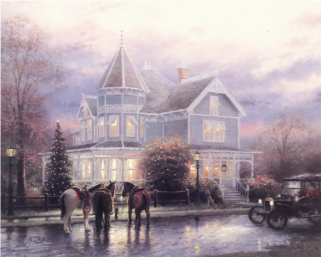 """Christmas Memories,"" Thomas Kinkade"