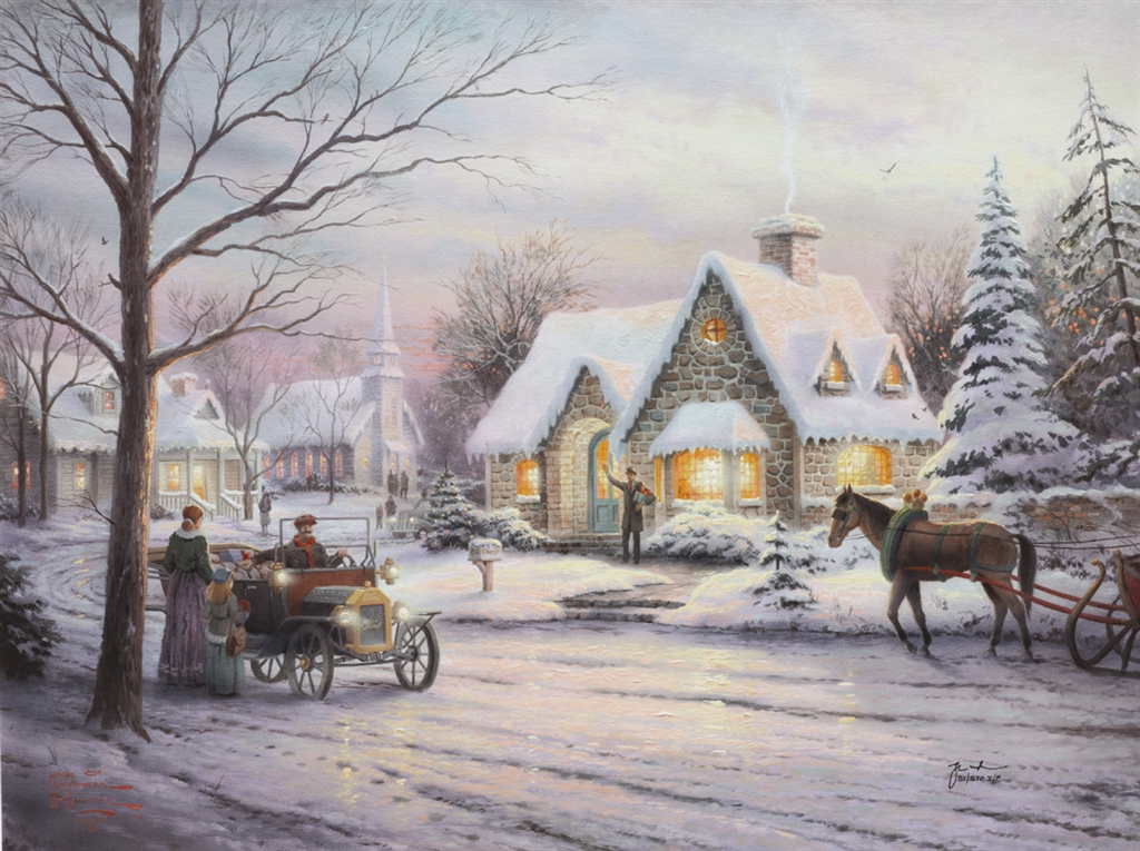 Thomas Kinkade Christmas.8 Thomas Kinkade Paintings That Perfectly Capture The Spirit