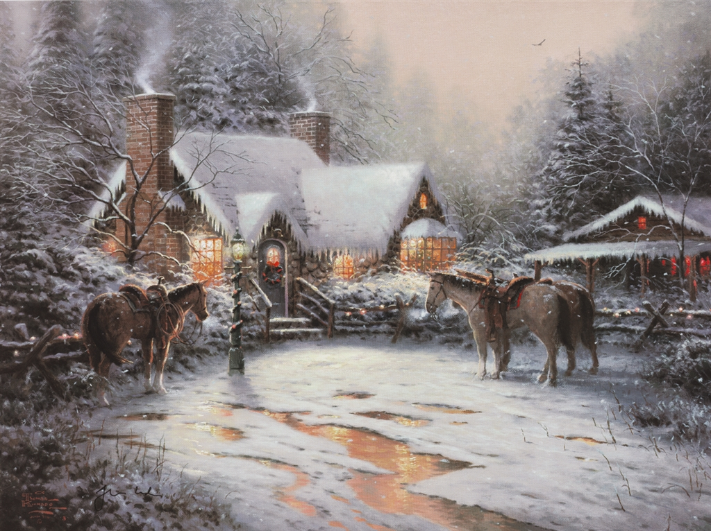 """A Christmas Welcome,"" Thomas Kinkade"