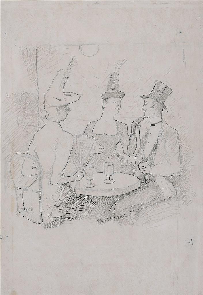 """""""Cafe-Concert a Montmatre,"""" Henri de Toulouse-Lautrec, c. 1886"""