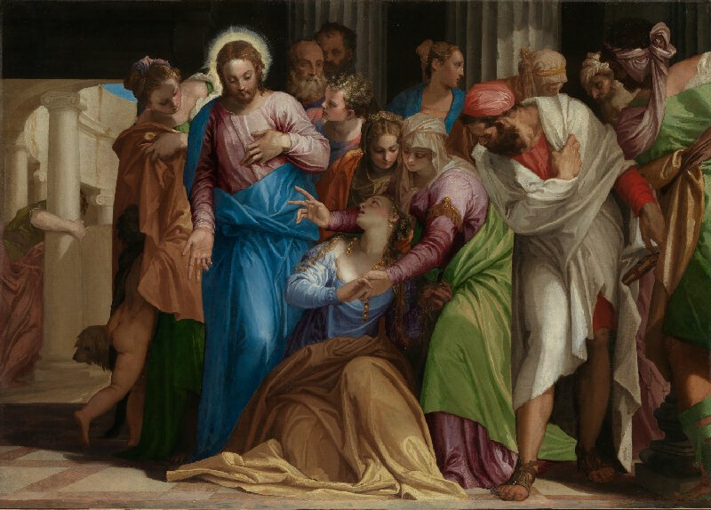 """""""The Conversion of Mary Magdalene"""" (c. 1548) by Paolo Veronese"""