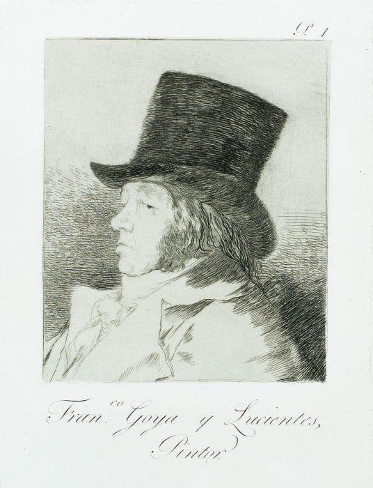 Famous artist Francisco Goya's self portrait Park West Gallery