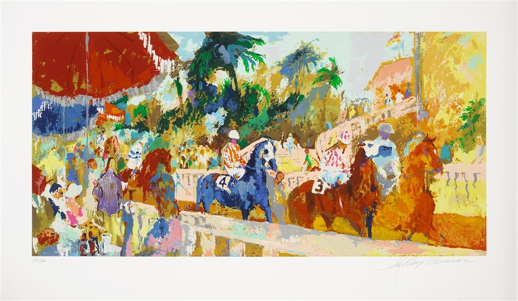 "Serigraph of ""Leaving the Paddock"" (2008), LeRoy Neiman"
