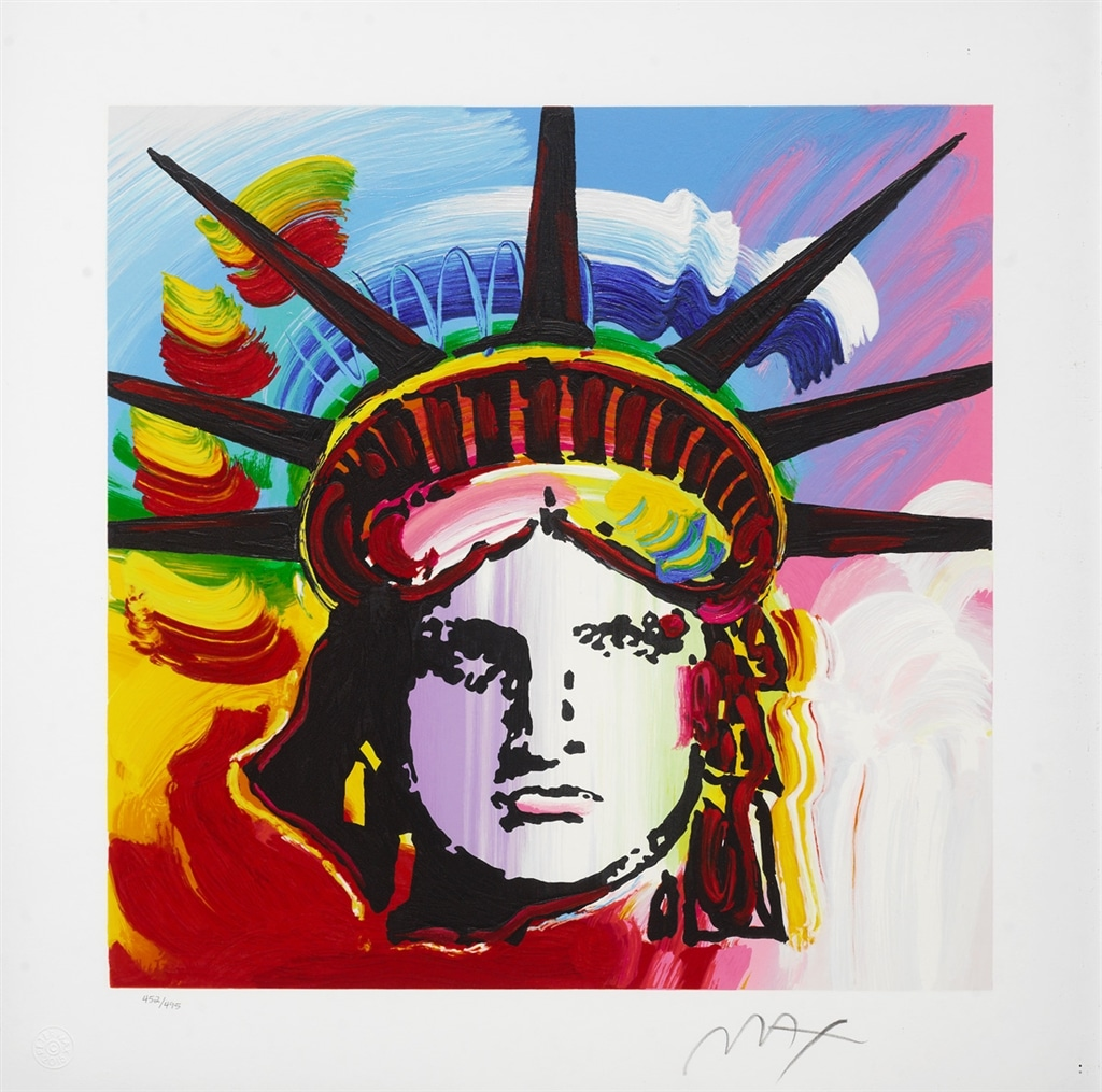 "Serigraph of ""Liberty Head II"" (2015), Peter Max"