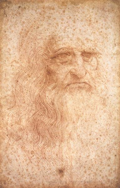 self portrait of famous artist Leonardo da Vinci