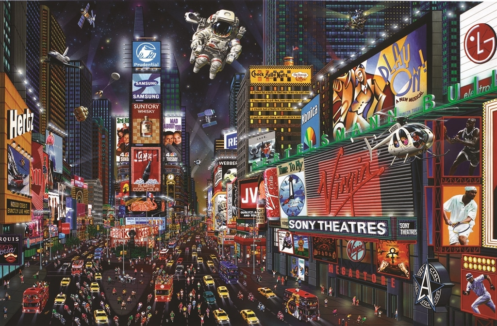 """""""Times Square Panorama"""" (2003), Alexander Chen"""