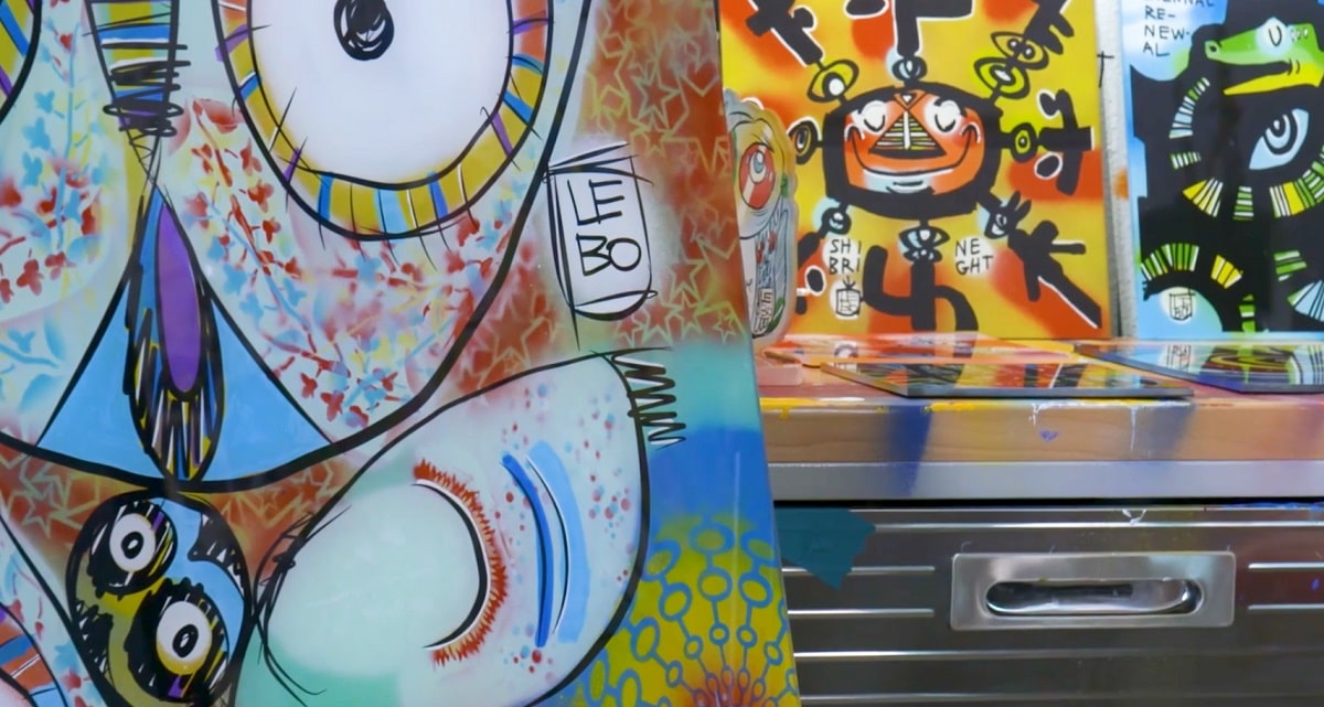 Through The Looking Glass Lebo Reveals New Plexiglass Paintings