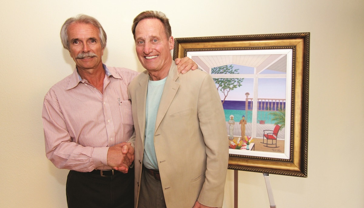 Fanch Ledan and Park West Gallery Founder and CEO Albert Scaglione