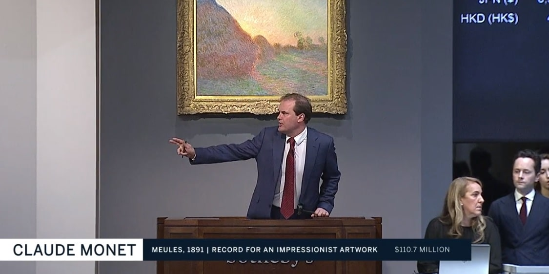 "Claude Monet's ""Meules"" sold for $110.7 million at auction on May 14, 2019."
