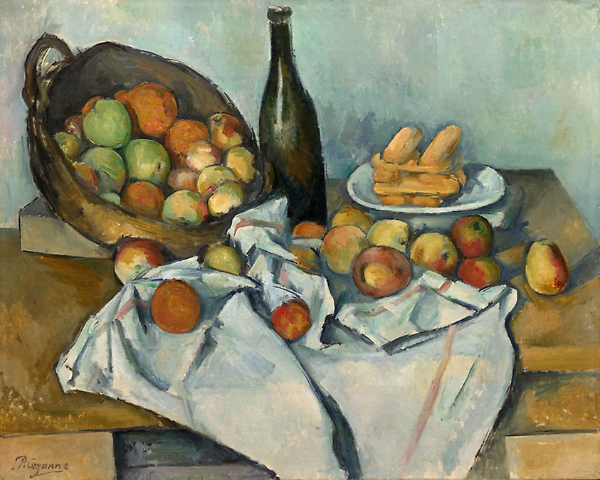 """""""The Basket of Apples"""" (c. 1893), Paul Cézanne (courtesy of The Art Institute of Chicago)"""