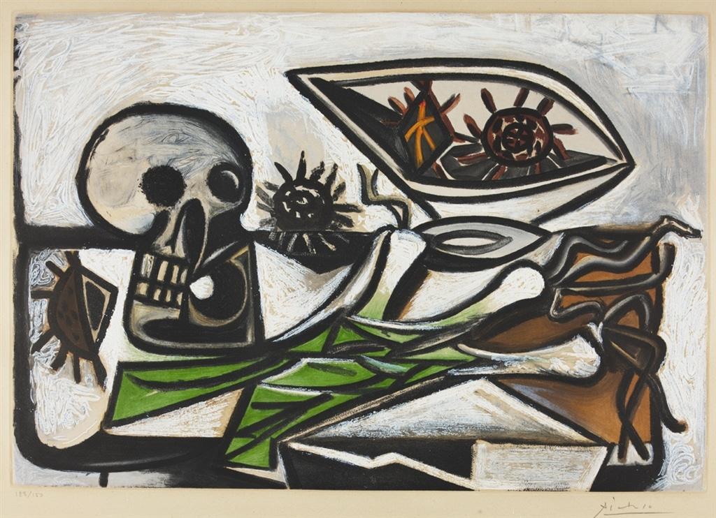 """""""Nature morte au Crane"""" (c. 1960), Pablo Picasso, Cubism, What is Cubism"""
