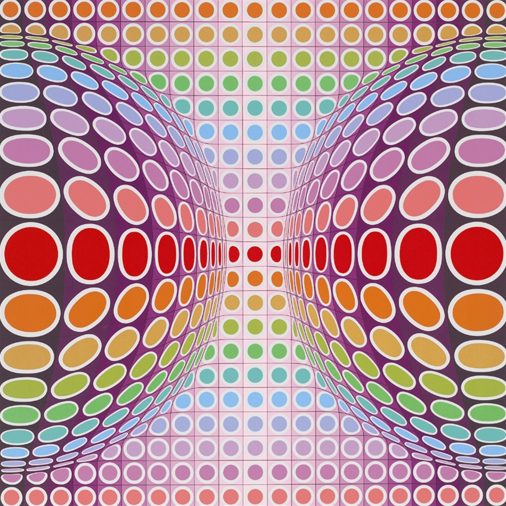 """""""Dyss"""" (1989), Victor Vasarely, abstract, abstract art"""
