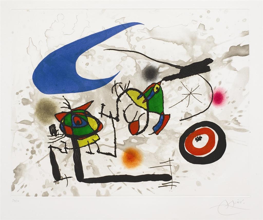 """Pygmies sous la Lune"" (1972; d. 562), Joan Miró, abstract, abstract art"