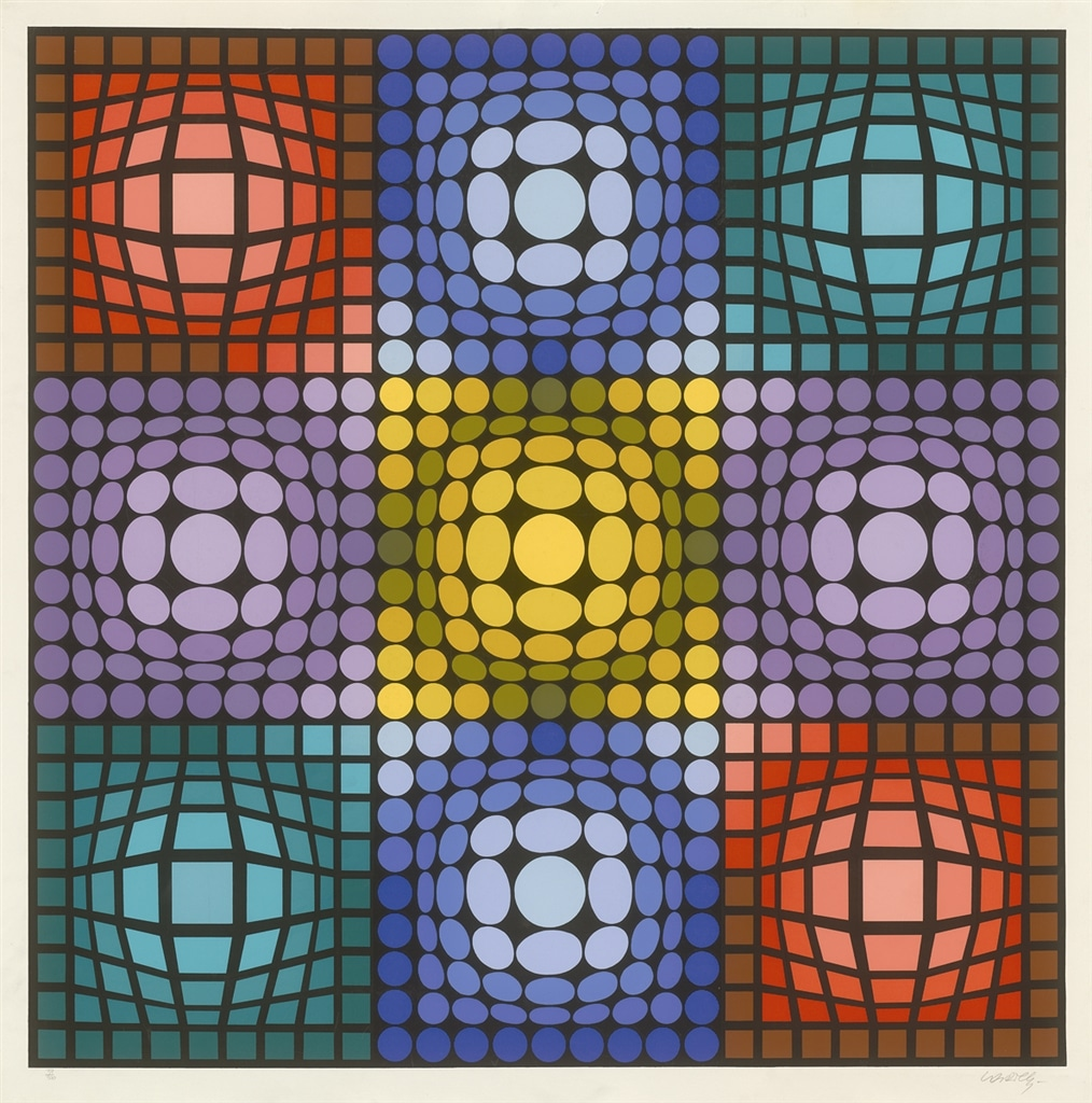 """""""Dyevat"""" (1987), Victor Vasarely, abstract, abstract art"""