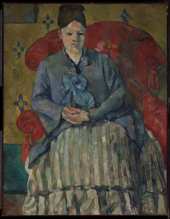 """""""Madame Cézanne in a Red Armchair"""" (c. 1877), Paul Cézanne, Cubism, What is Cubism"""