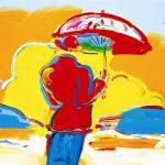 """""""Umbrella Man at Sea"""" (2006), Peter Max, Expressionism, Expressionist Art"""