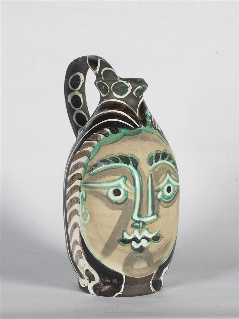 """""""Femme du Barbu"""" (Bearded Man's Wife; 1953), Pablo Picasso, Picasso ceramics"""