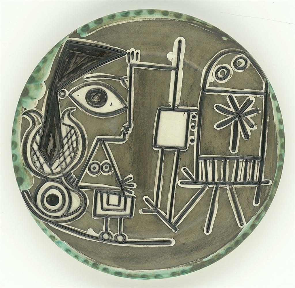 """""""Jacqueline au Chevalet"""" (Jacqueline at the Easel; 1956), Pablo Picasso, Picasso Ceramics"""
