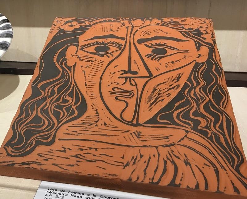"""""""Tete de Femme a la Couronne de Fleurs"""" (1964), Pablo Picasso. Currently on display at Park West Museum, Expressionism, Expressionist Art"""