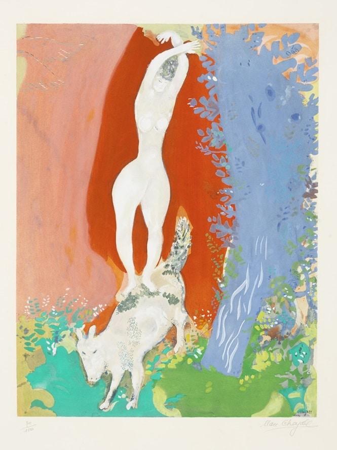 """Femme de Cirque"" (1960), Marc Chagall"