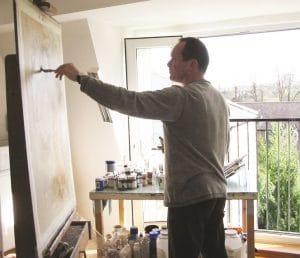 Peter Nixon at work.