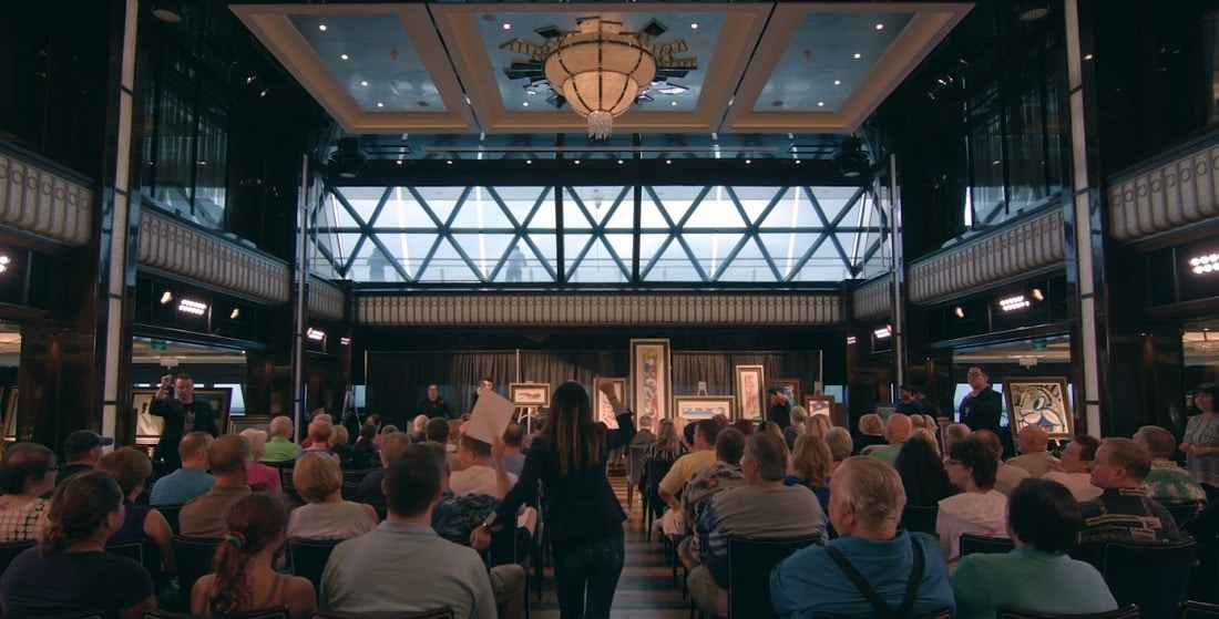 Park West holds hundreds of auctions every year in luxury hotels, cruise ships, and other travel destinations.