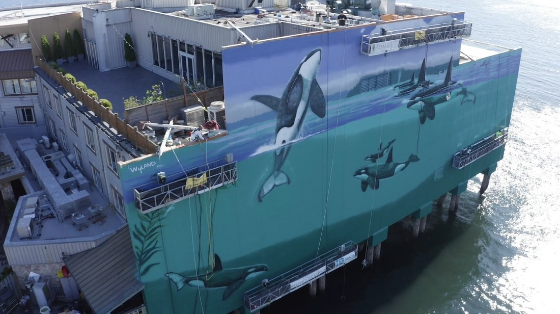 A look at the finished Seattle mural.