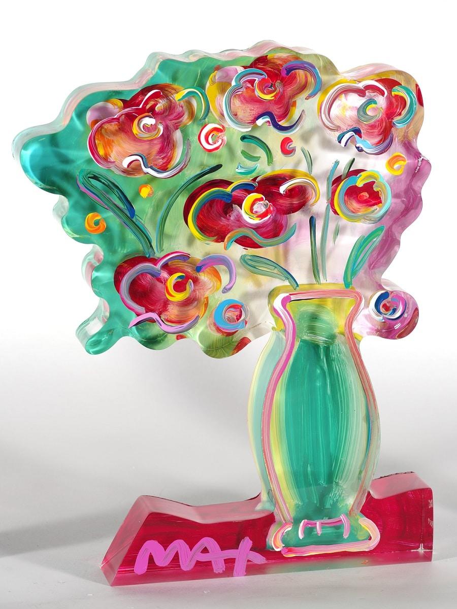 """""""Vase of Flowers Ver. II #137,"""" Peter Max"""