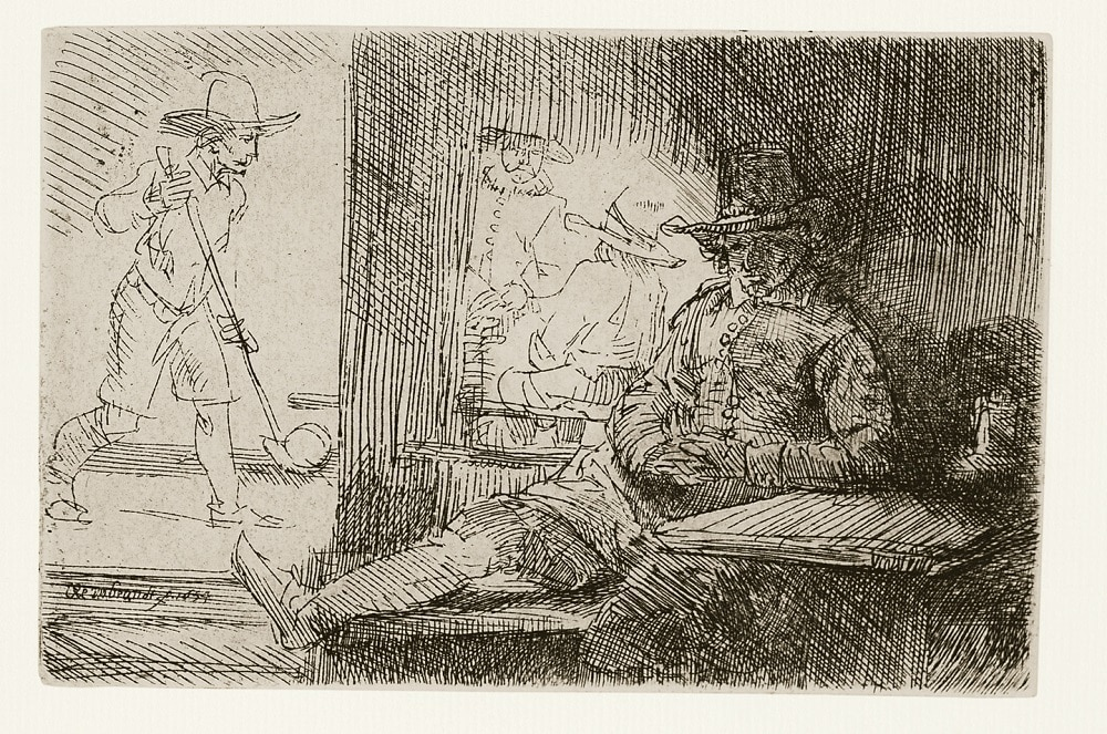 """""""The Golf Player"""" (1654), Rembrandt"""