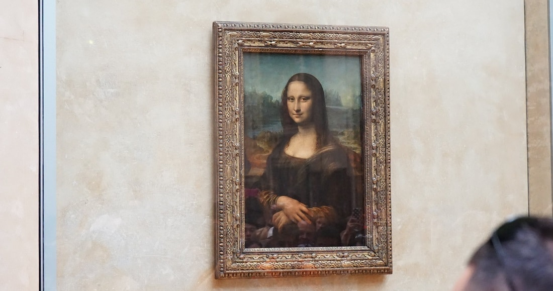"Leonardo da Vinci's ""Mona Lisa"" at the Louvre"