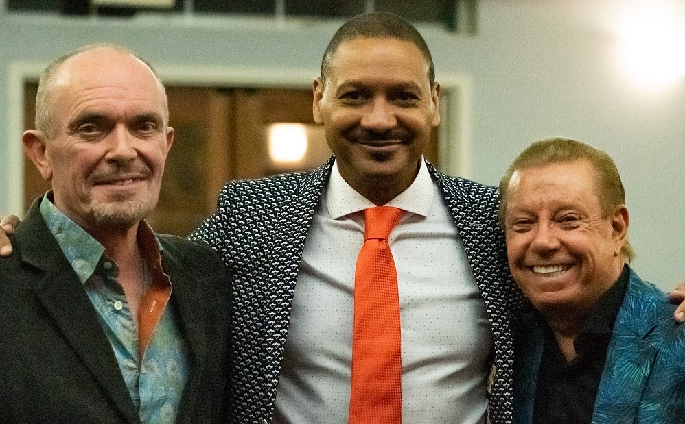 Park West artist Peter Nixon with Delfeayo Marsalis and Les DeMerle.