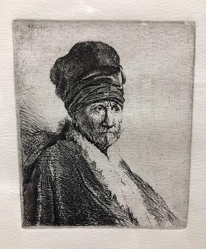 """Bust of a Man Wearing a High Cap; Three-Quarters"" (1630)"
