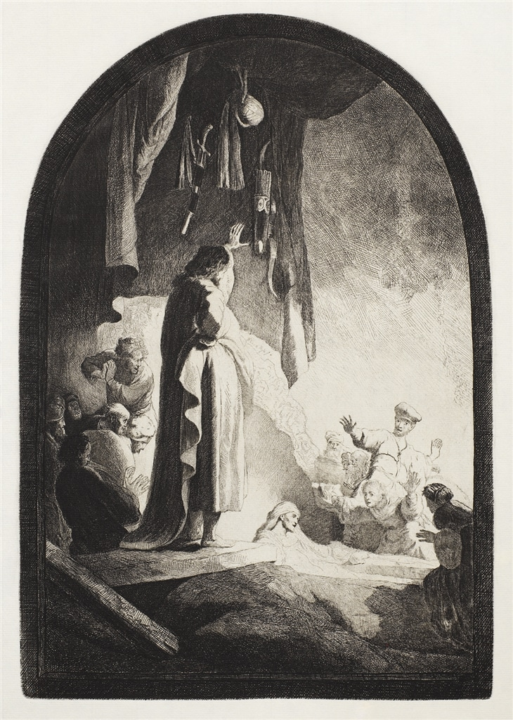 """""""The Raising of Lazarus: The Larger Plate"""" (c. 1630)"""