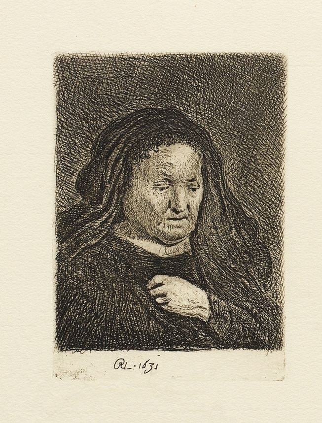 """""""The Artist's Mother with Her Hand on Her Chest"""" (1631)"""
