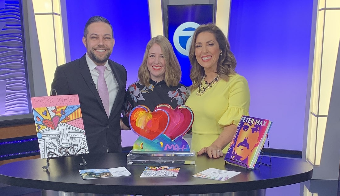 Park West Gallery Director David Gorman, Park West Fine Art Consultant Trista Maltby, and ABC WXYZ Detroit morning anchor Alicia Smith.