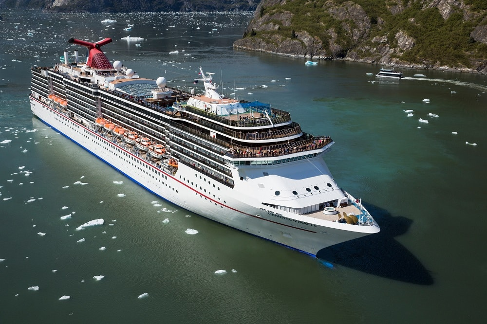 Carnival Miracle in Tracy Arm, Alaska