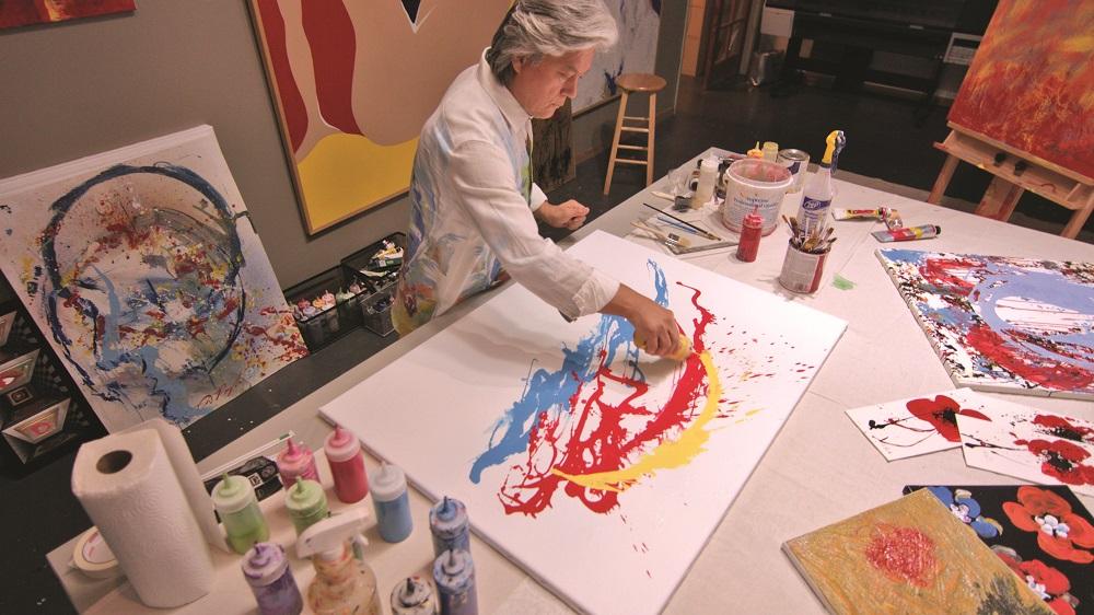 Pangborn at work in his studio