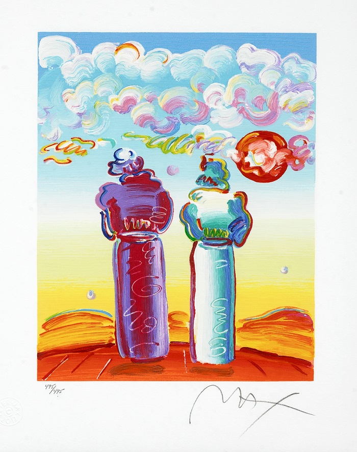 """""""Two Sages Looking at Sunrise"""" – Peter Max"""