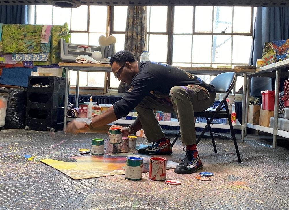 Marcus Glenn at work.