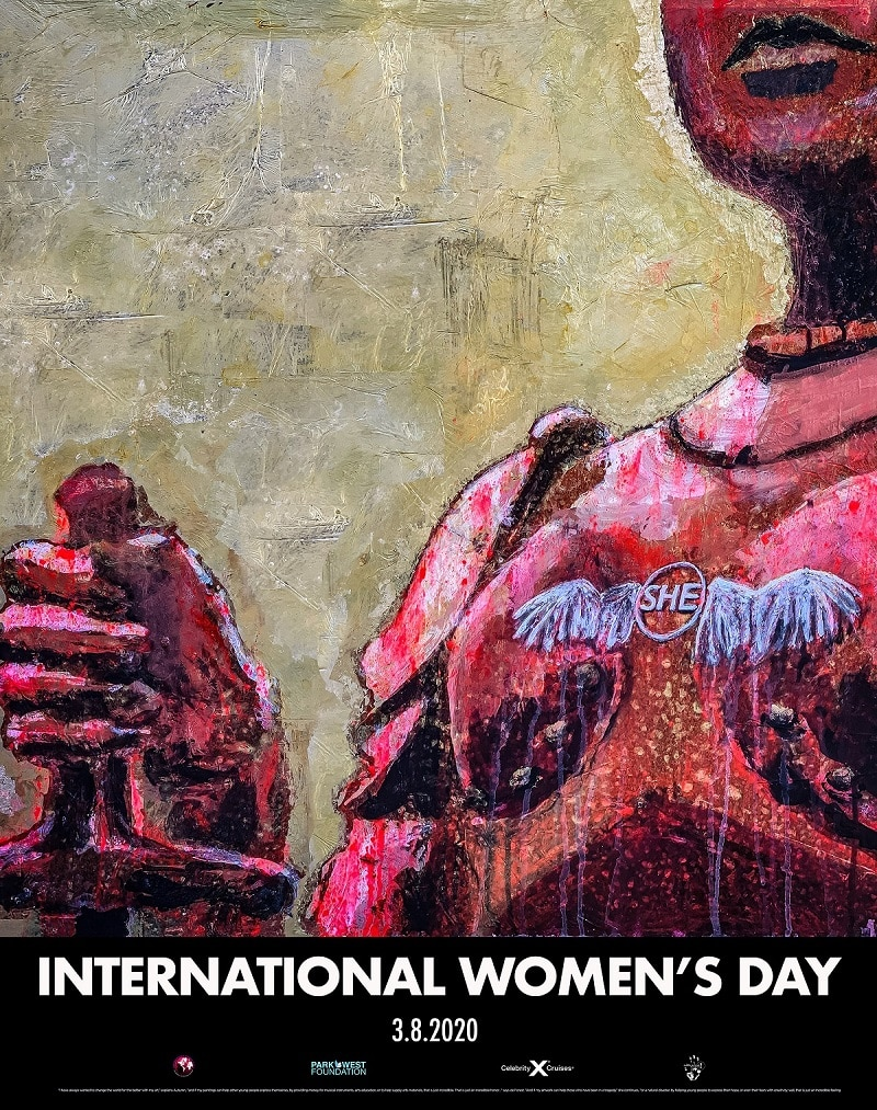 Special commemorative poster designed by Autumn de Forest for International Women's Day 2020