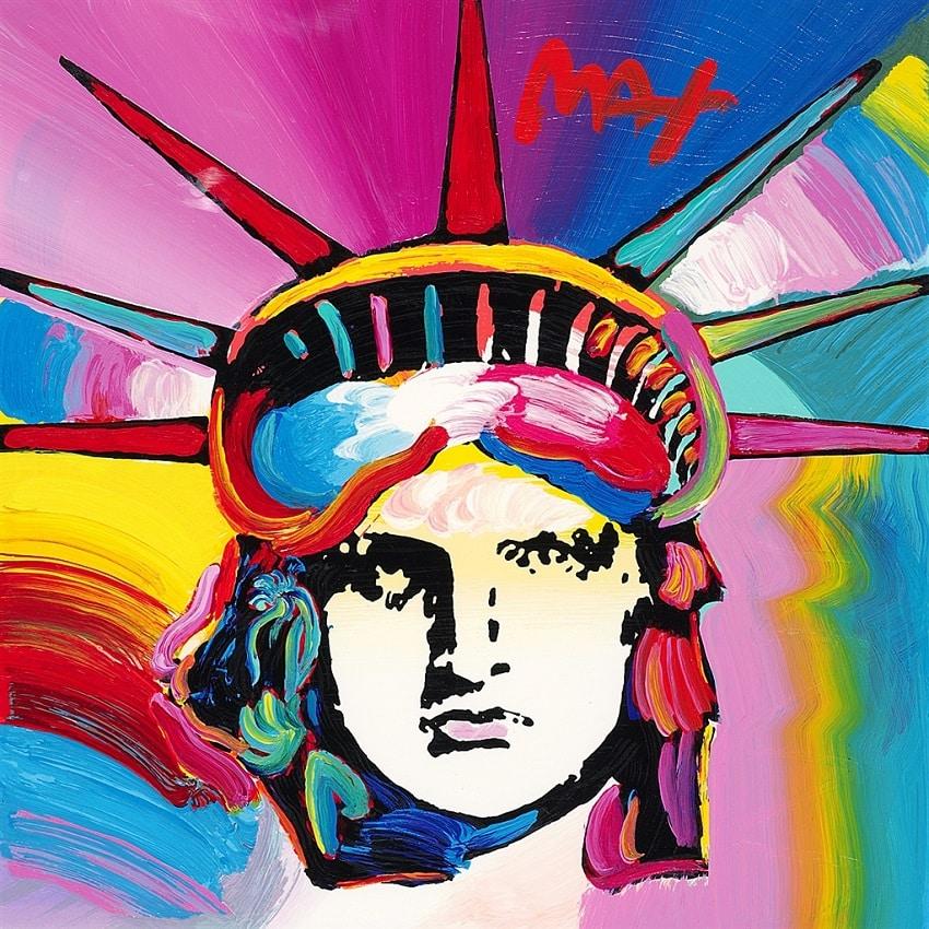"""""""Liberty Head,"""" Peter Max"""